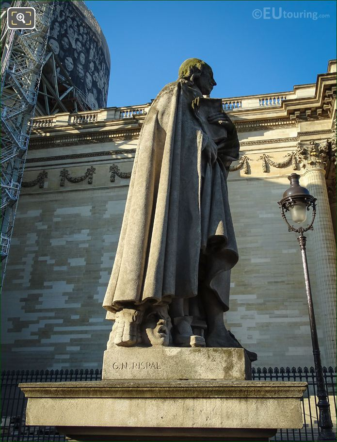 The Pierre Corneille Statue North Side