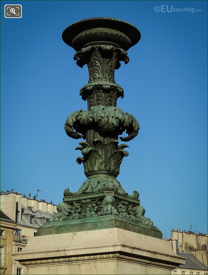 Bronze Candelabra Memorial To Alexandre Massiani