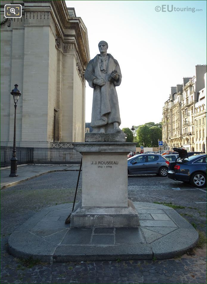 J J Rousseau Statue In Place Du Pantheon Paris