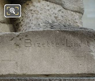 Andre Bizette-Lindet Inscription On J Rousseau Statue