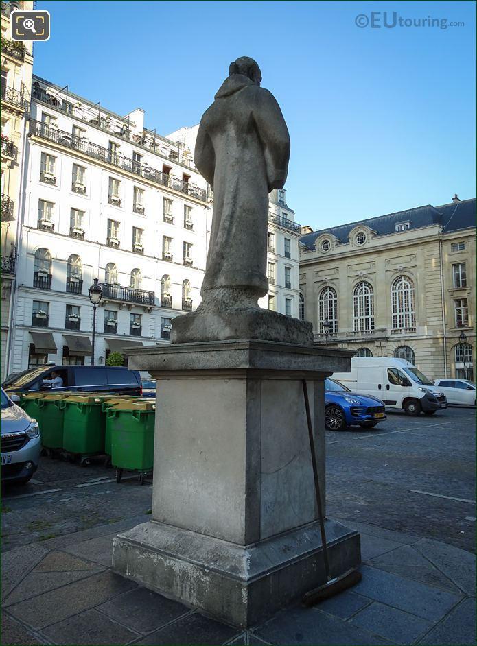 Jean-Jacques Rousseau Stone Statue Paris