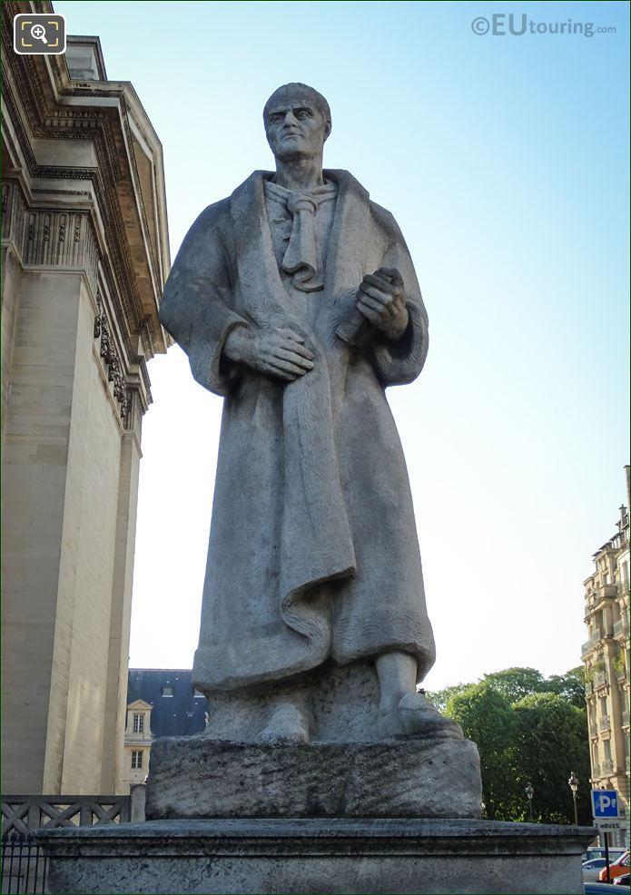 Jean-Jacques Rousseau Statue By Andre Bizette-Lindet
