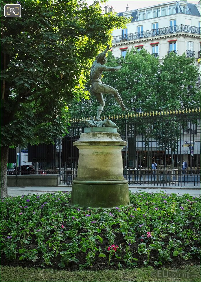 Faune Dansant Statue On Its Pedestal