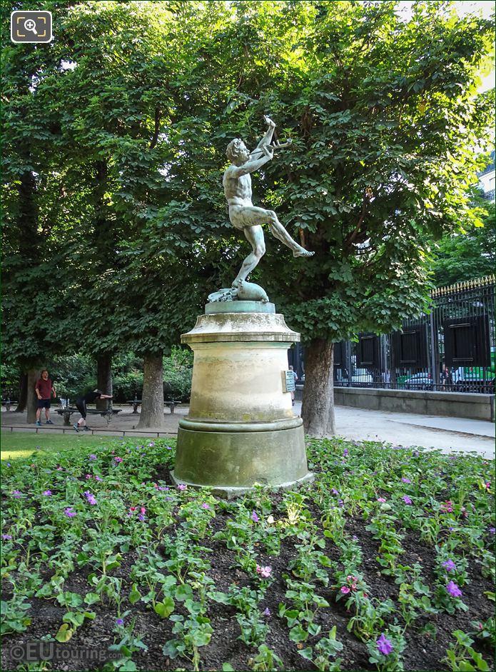 Eugene Lequesne Faune Dansant Statue In Paris