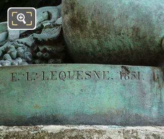 E L Lequesne Inscribed On Faune Dansant Statue