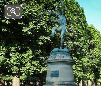 Faune Dansant Statue Inside Luxembourg Gardens Paris