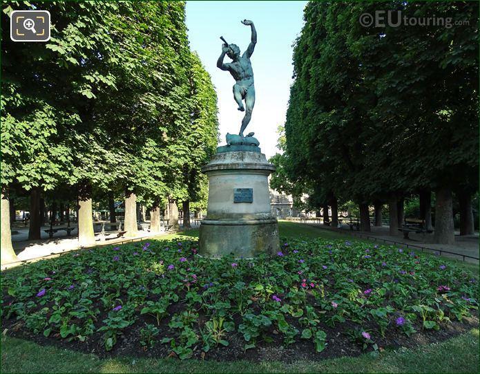 Jardin Luxembourgs Faune Dansant Statue