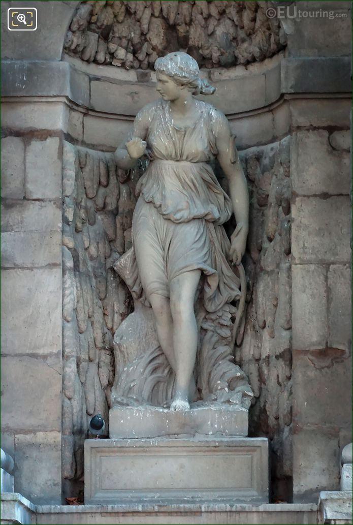 Diane Statue By Sculptor Auguste Ottin