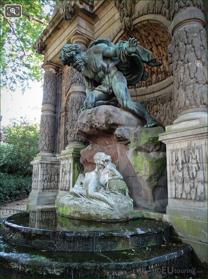 Polyphemus, Acis And Galatea Statues In Luxembourg Gardens
