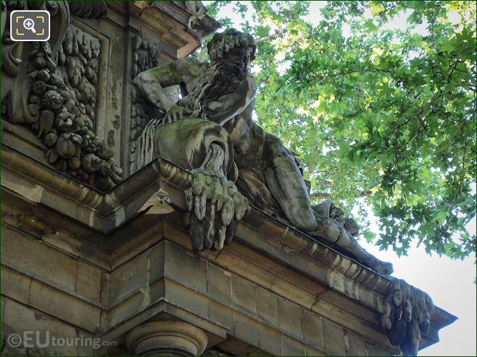 Fontaine Medicis River God Statue By Francisque Duret