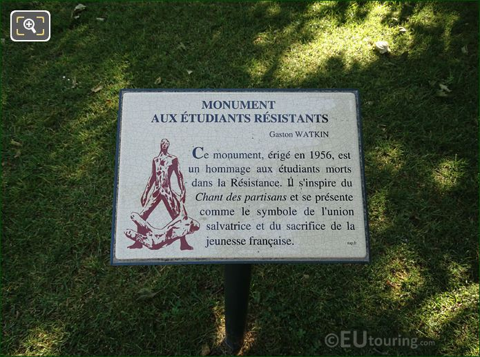 Plaque For Etudiants Morts Dans La Resistance Monument