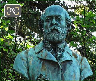 Bronze Bust Of Henry Murger By Theophile Bouillon