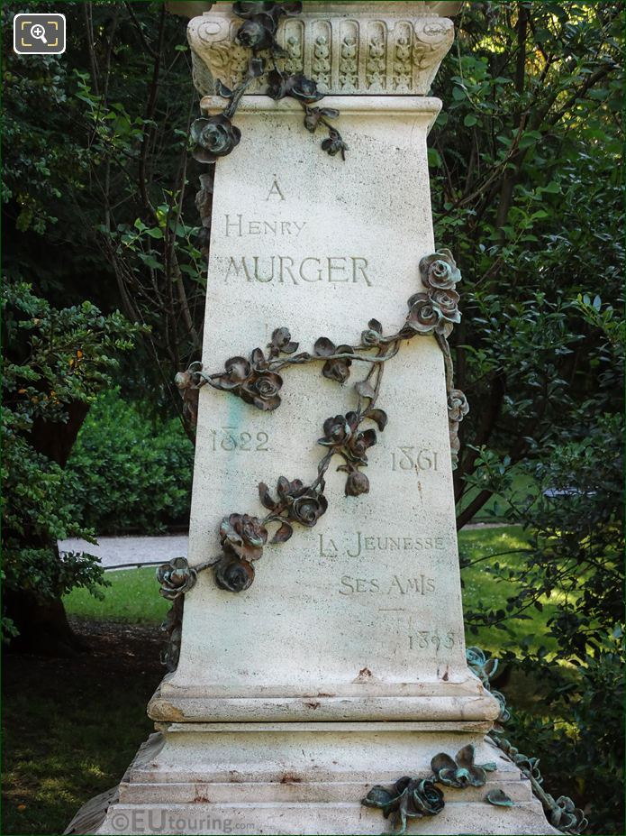 Henry Murger Monument Inscription