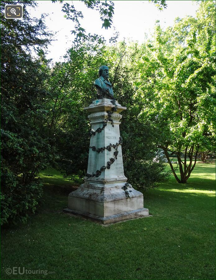 Luxembourg Grdns Henry Murger Monument