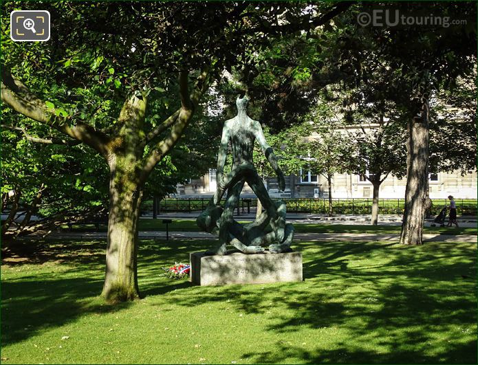 French Resistance Monument Jardin Du Luxembourg