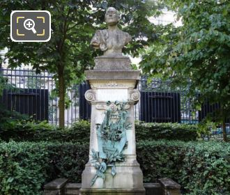 Theodore De Banville Monument And Statue Luxembourg Grdns