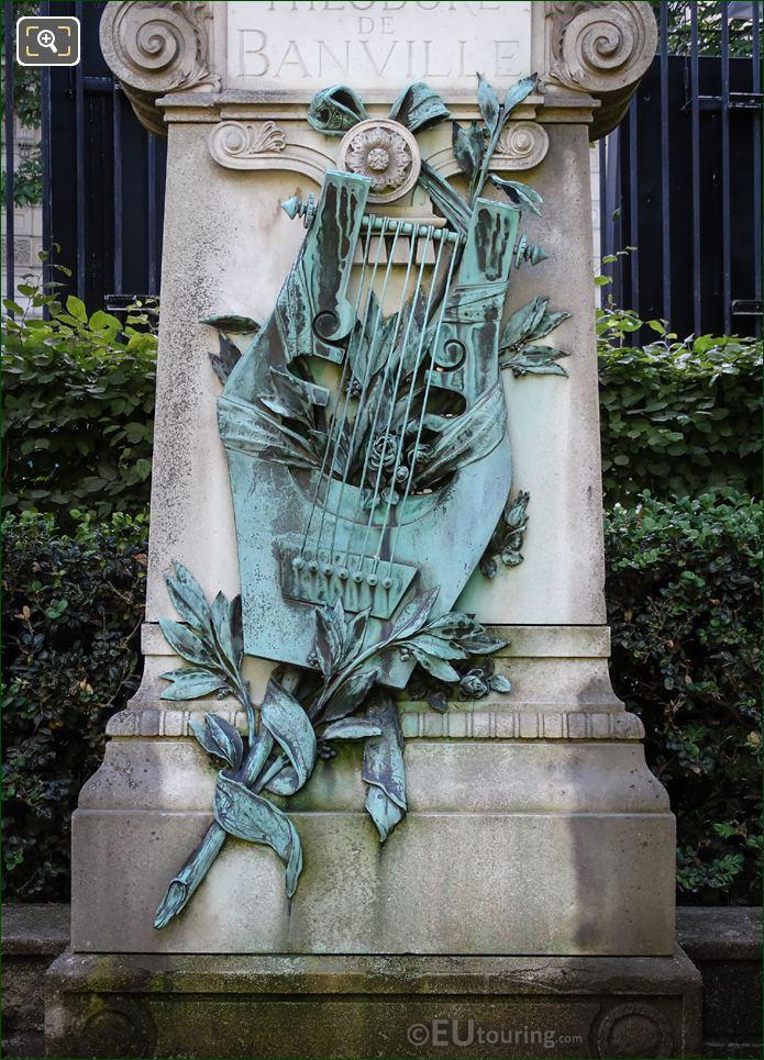 Bronze Sculpture On The Theodore De Banville Monument
