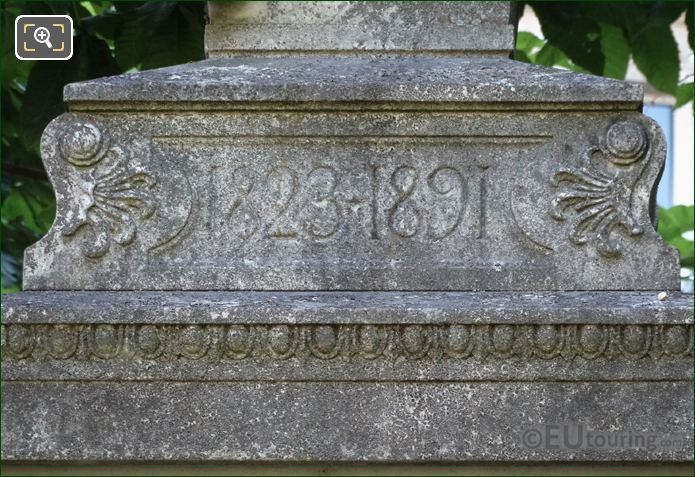 Pedestal Date Inscription On Theodore De Banville Monument