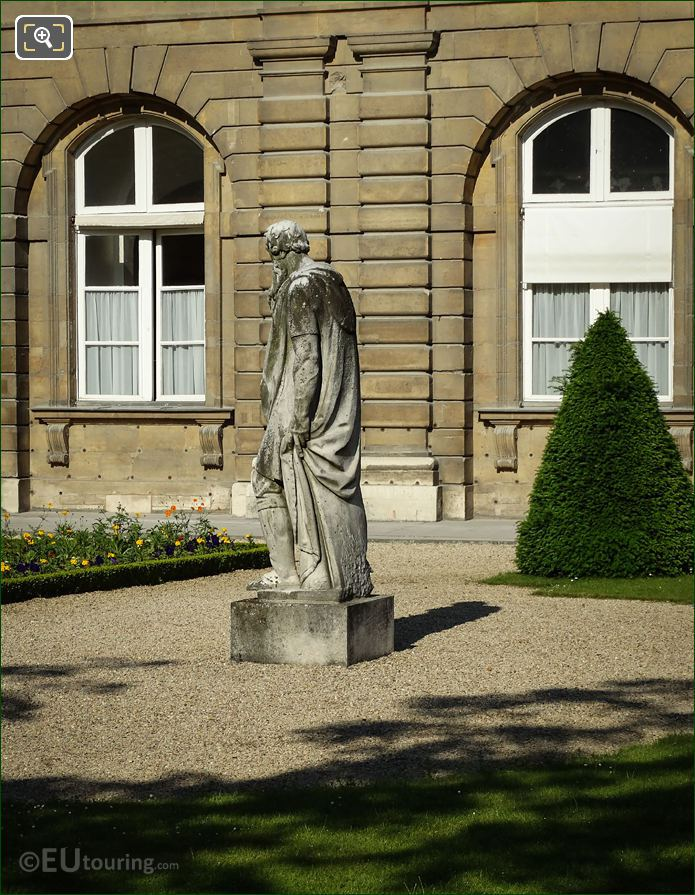 Side View Of Le Silence Statue By Berthelot