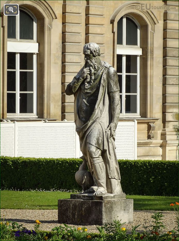 Guillaume Berthelot Marble Statue Le Silence