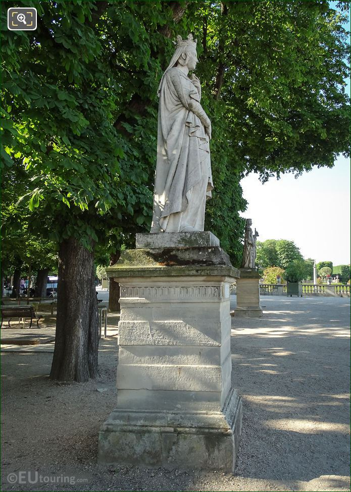 Side View Of The Sainte Bathilde Statue
