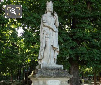 Sainte Bathilde Statue In Jardin Du Luxembourg