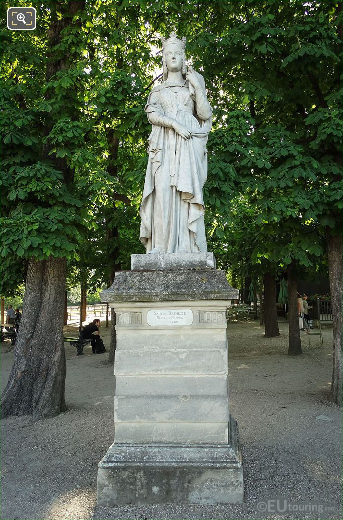 1848 Marble Statue Of Sainte Bathilde