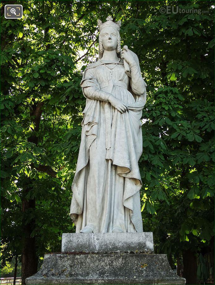 Sainte Bathilde Statue By Artist Victor Therasse