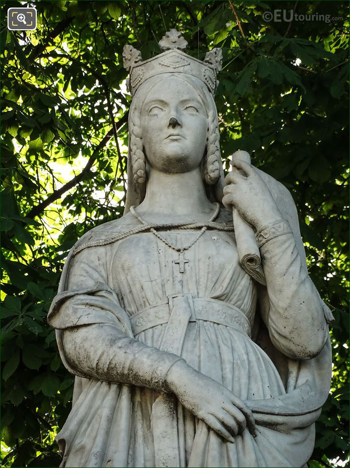 Queen Of France Sainte Bathilde Statue Luxembourg Gardens