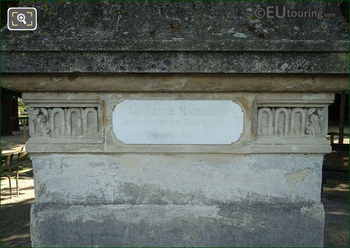 Information Plaque On La Reine Mathilde Statue