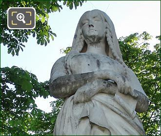 Sainte Genevieve Statue By Michel Mercier