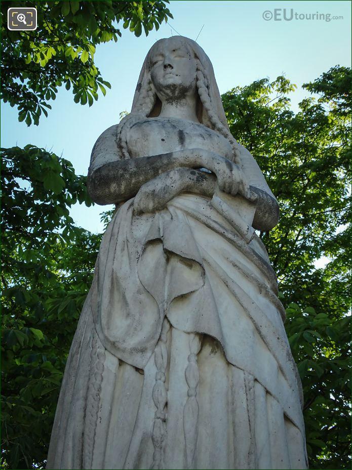 Statue Of Sainte Genevieve Luxembourg Gardens