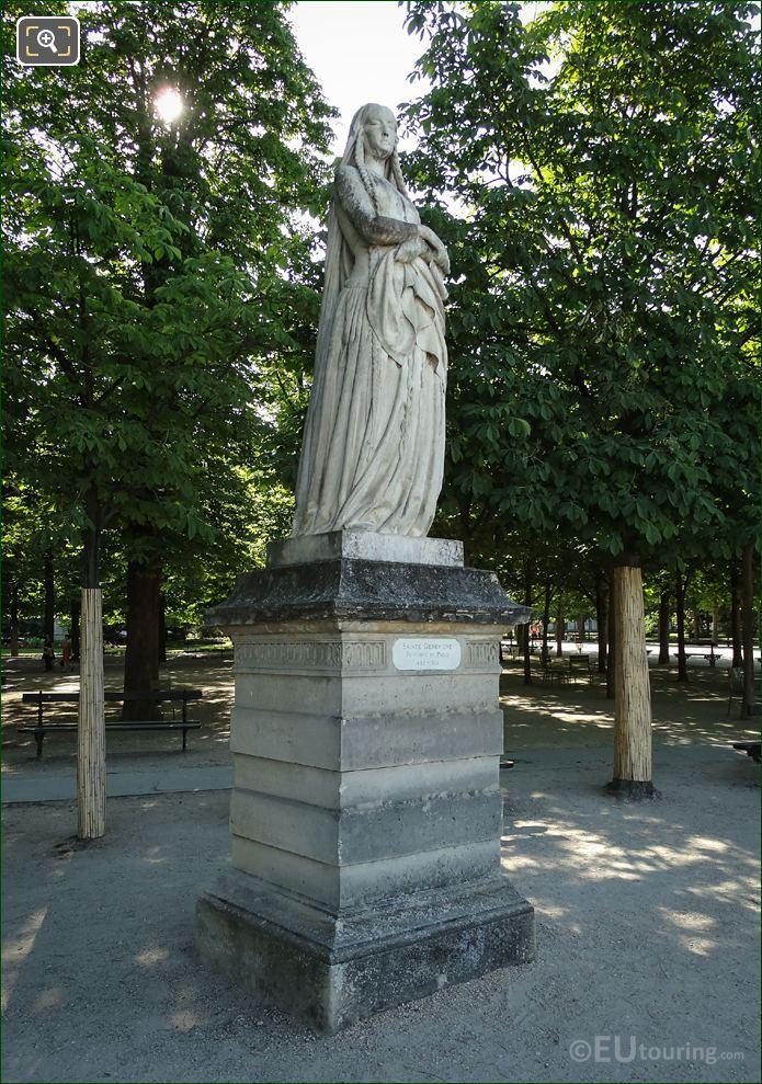 Jardin Du Luxembourg Statue Of Sainte Genevieve
