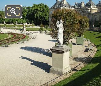 Luxembourg Gardens Statue Of Calliope