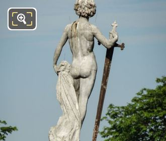 Luxembourg Gardens Statue Of David Vainqueur De Goliath
