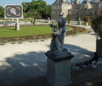 Luxembourg Gardens God Of Fire Statue Vulcain