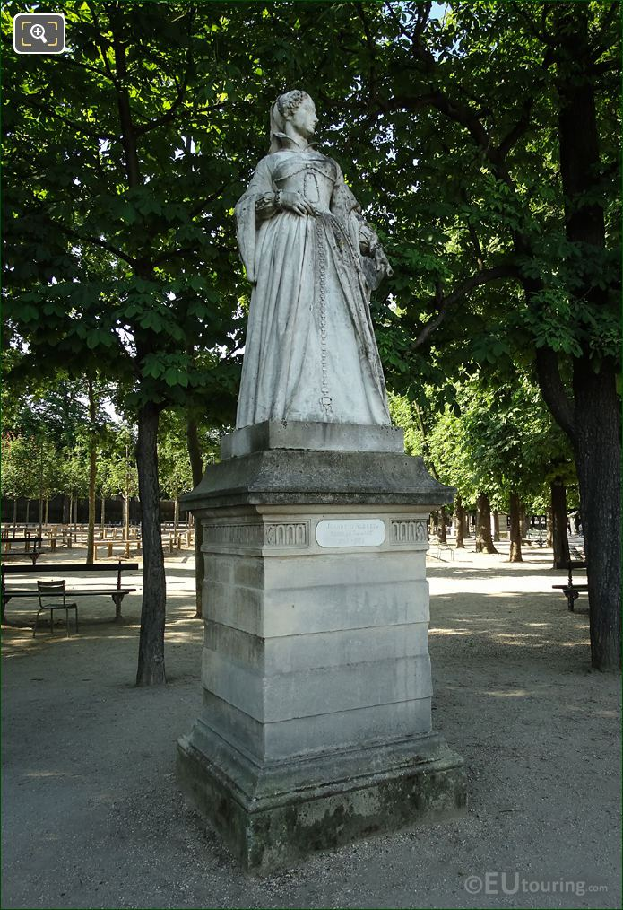 Jean d'Albret Statue On Stone Base