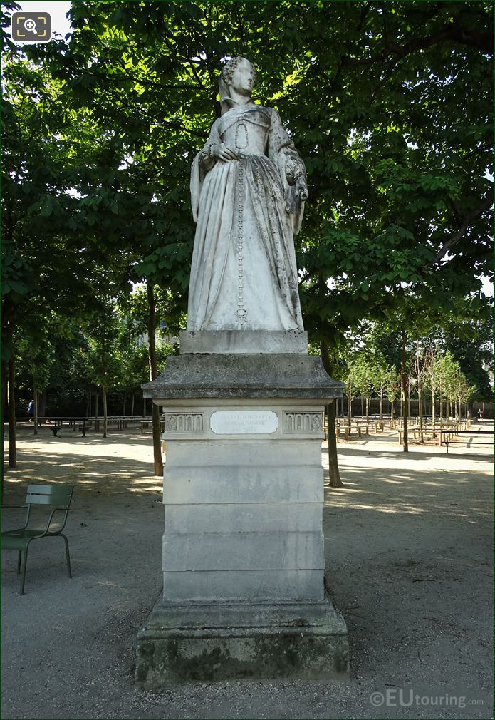 1848 Jean d'Albret Statue Jardin Du Luxembourg