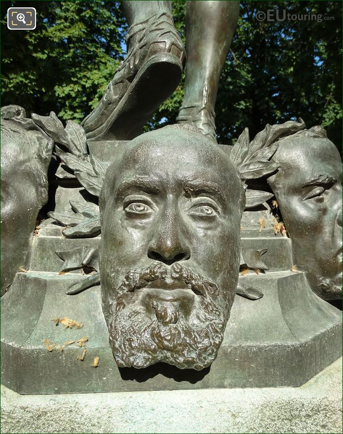 Jean-Baptiste Faure Mask On Statue
