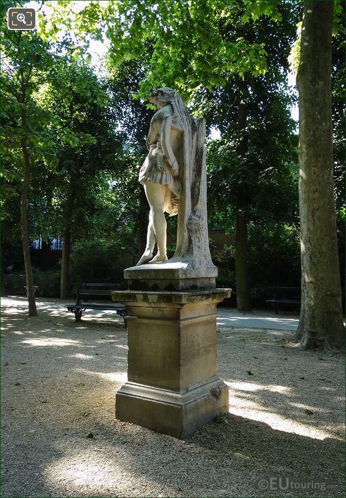 Velleda Statue On Stone Pedestal