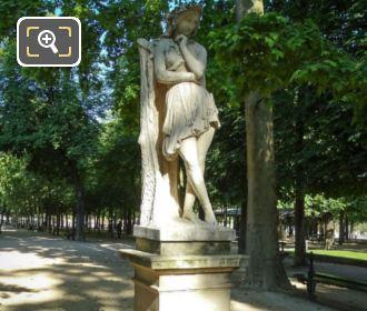 Luxembourg Gardens Statue Velleda