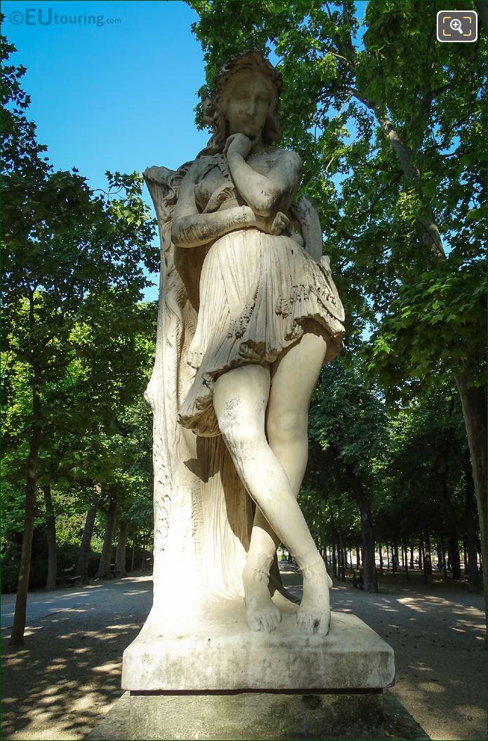 Velleda Statue In Jardin Du Luxembourg