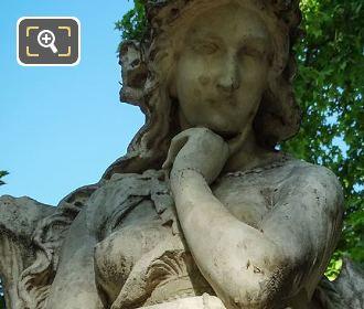 1844 Marble Statue Of Velleda