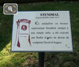 Plaque At The Stendhal Monument Luxembourg Gardens