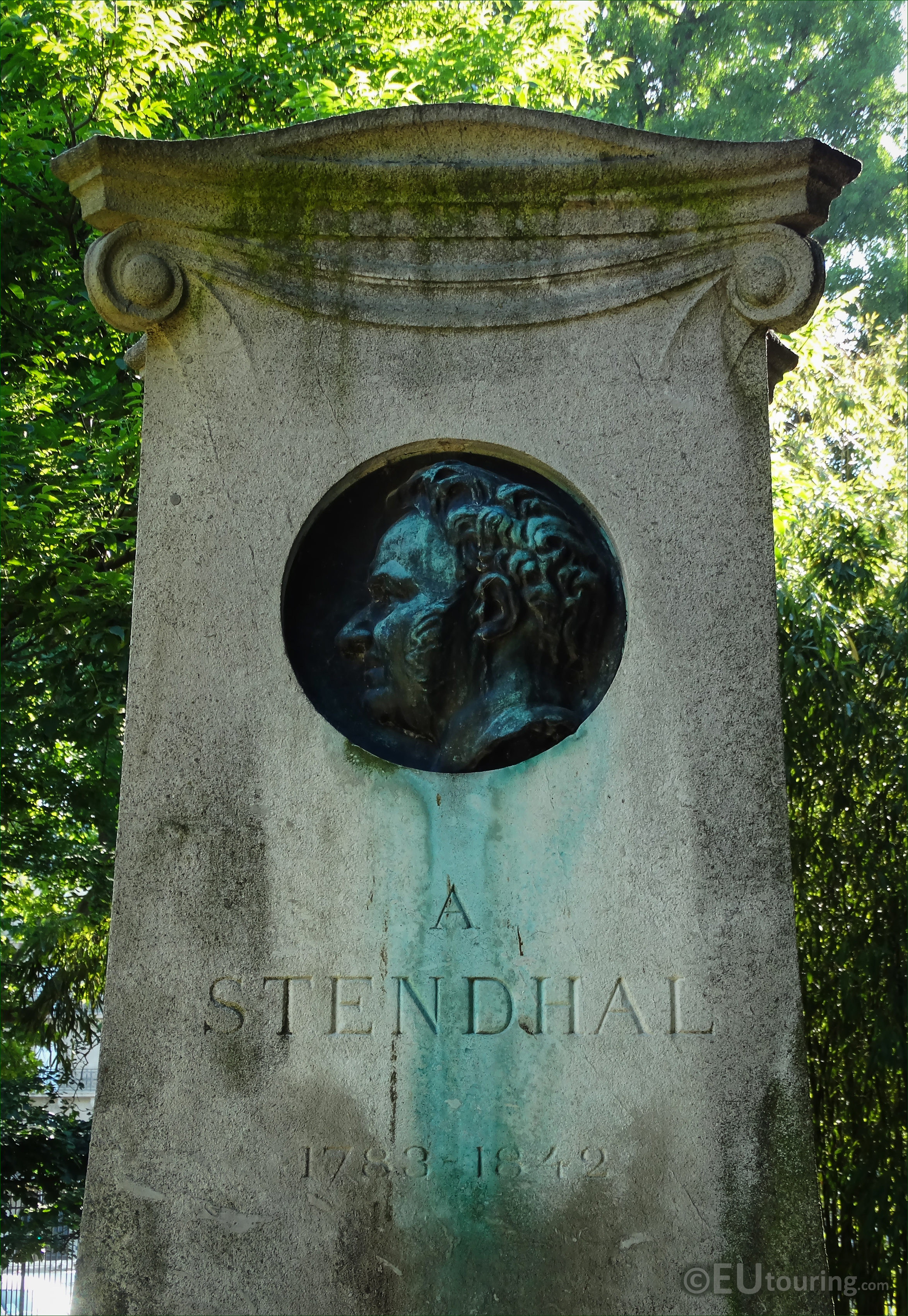 photos of stendhal monument in gardens paris page  stendhal or henri beyle commemorative monument