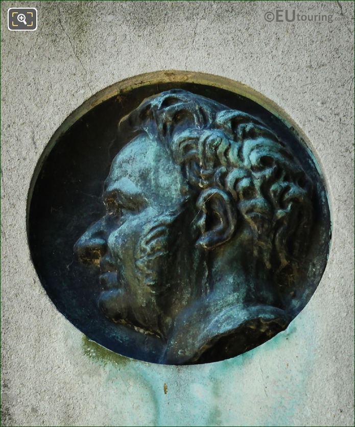 Stendhal Bronze Medallion By Auguste Rodin
