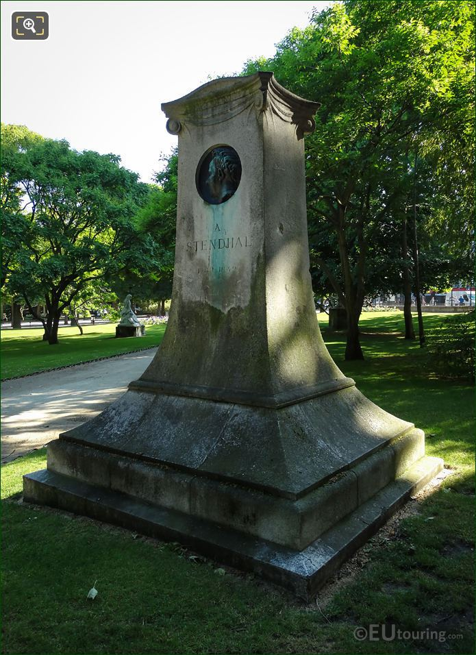 Commemorative Statue Of Writer Stendhal