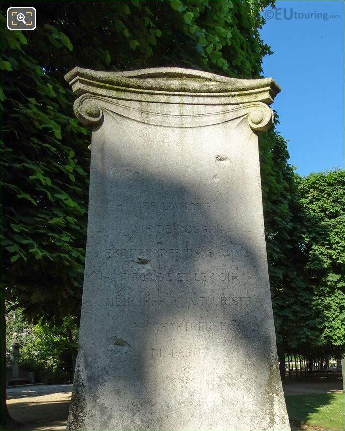 Inscription On The Stendhal Monument In Paris