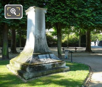 Stele Monument Dedicated To Stendhal