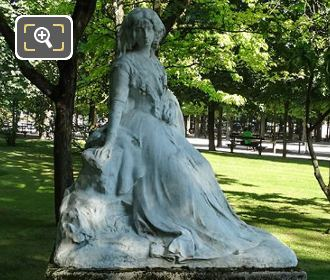 George Sand Statue Sculpted By F Sicard